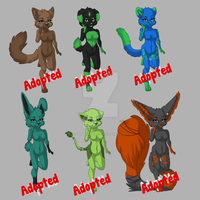Adoptables For Points (CLOSED) by GeminiPanda