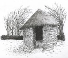 Viking Stone House by subedei