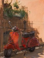 Red Vespa by AaronMiller