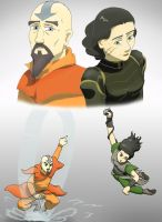 Korra: Tenzin and Lin - like old times by Bizmarck