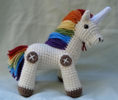 rainbow unicorn amigurumi 2 by TheArtisansNook