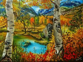 Birch trees by Calissto