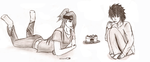 L with Deidara and cake V2 by gabsters109