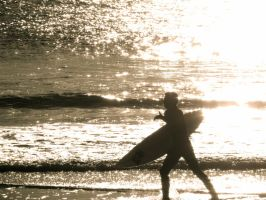 Surfer Silhouette by AMartin17