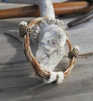 Adjustable Horsehair Bracelet - Daisy and Buddy by TarpanBeadworks