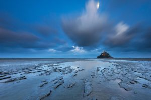Mont Saint-Michel Moonlight by TobiasRichter
