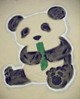 A Panda and his Food by Scunosi