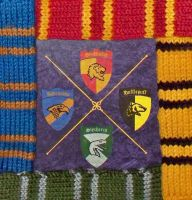 Knitted Harry Potter Scarves1 by Cherieosaurus
