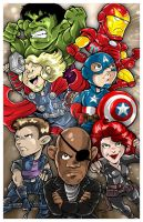 Convention Print - The Avengers by DaphneLage