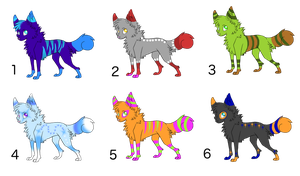 Wolf/canine adoptables! 3pts each! by DailyAdoptables