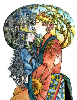 Day and Night , King and Queen by GoldenfishClover