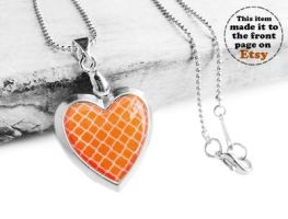 Handmade Resin Silver Heart Locket Necklace by crystaland