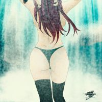 erza on bath by brownman06