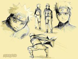 Just some Naruto sketches by Anyarr