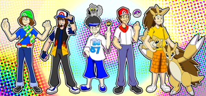Legends as Pokemon Trainers COLORED by Kiwii3364
