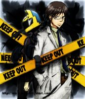DRRR Celty and Shinra C2 by oictvoART