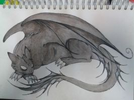 Water Colour : Night Fury by Imagineator