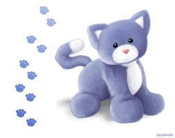Blue Kitty by Paramnesia