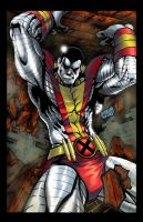 Colossus from Xmen colored by hanzozuken