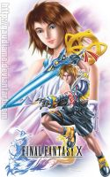 Final Fantasy X Tidus Yuna by gaudiamo