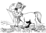 Monster a Day Art Challenge: 2. Centaur by Granitoons