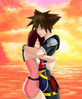 Sora and Kairi by SamsBee