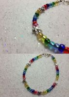 Rainbow Star Bracelet by AestheticSaturn
