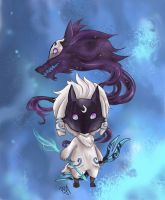 League of Legends - Kindred Chibi by GM-Pi