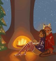 Ahsoka and Barriss Holidays by Raikoh-illust