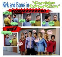 Jim and Bones in Corridor Commotion by Therese-B