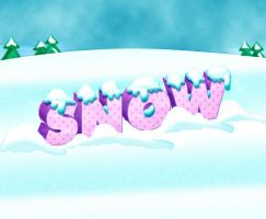 Text with Snow by PsdDude