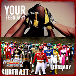 Your February My February Power Rangers by surfrattsurfer
