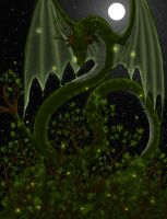 Tree Dragon CG by Lizzy-John