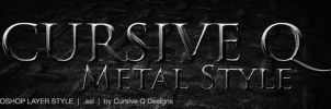 Free Photoshop Metal Style by CursiveQ-Designs