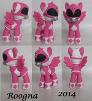 Pink Mighty Morphin Power Ranger Pony by Roogna