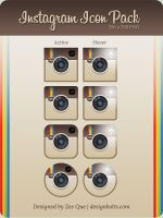 Free Instagram Icon Pack (256 x 256) PNG by Designbolts