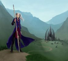 Young Elf And A Lost Temple by MidnightTea7