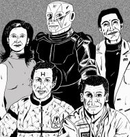 Red Dwarf Crew by mikedaws