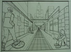 one point perspective by china101