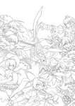 Elsword Rescue Lanox! Lineart by Divahua