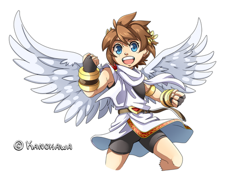 Kid Icarus Uprising: Pit Illustration by Kanokawa