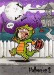 Hallowe'en 2 Sketch Card - Mike Hartigan 1 by Pernastudios