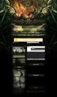 GOREZONE MYSPACE LAYOUT by isisdesignstudio