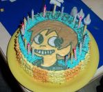 Scott Pilgrim birthday cake by estranged-illusions
