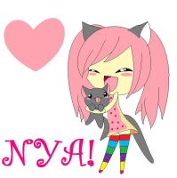 Nyan Cat Chibi Girl by iamawsum