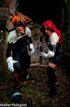 Sora and Kairi- Halloween Town by The-Final-Distance