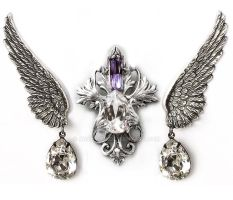 Swarovski Crystal Jewelry Set by Aranwen