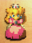 Peach - Super Mario RPG - Bead Sprite by flamemandala