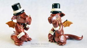 Dapper Bronze Dragon with Monocle by HowManyDragons