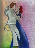 Lovers caress by Psych3d3lics